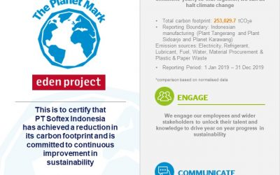 TURNKEY'S CLIENT, KIMBERLY-CLARK SOFTEX HAS ACHIEVED SUSTAINABILITY CERTIFICATION FROM THE PLANET MARK FOR THE 4TH TIME