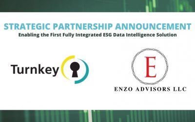 Turnkey and Enzo Advisors Announce a Strategic Partnership, Enabling the First Fully Integrated ESG Data Intelligence Solution for Corporations and Institutional Investors